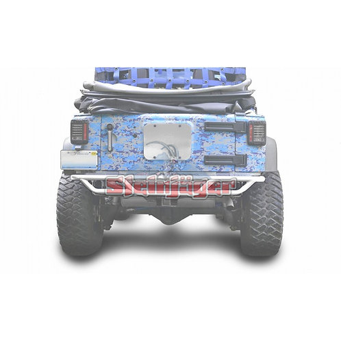 STE-J0048170. White Rear Tubular Bumper for Jeep Wrangler JK 0-