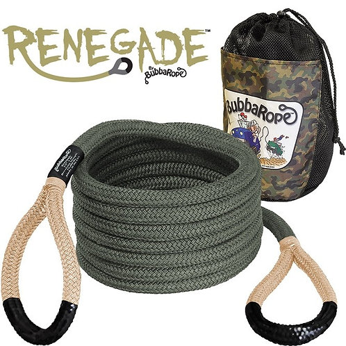 BUBBA ROPE 176655BKG 20 foot Recovery Rope Renegade