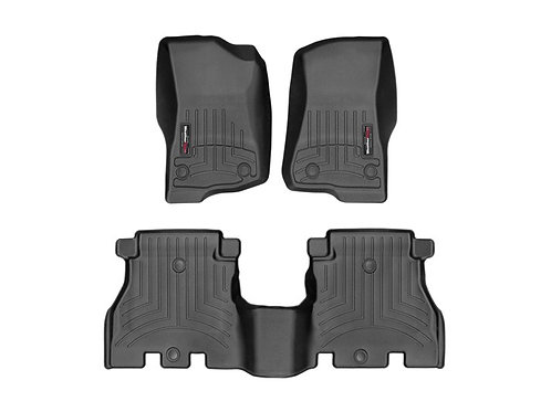 WEATHERTECH 441313-1-2 Black 1st & 2nd Row Liner for 18-20 Jeep Wrangler