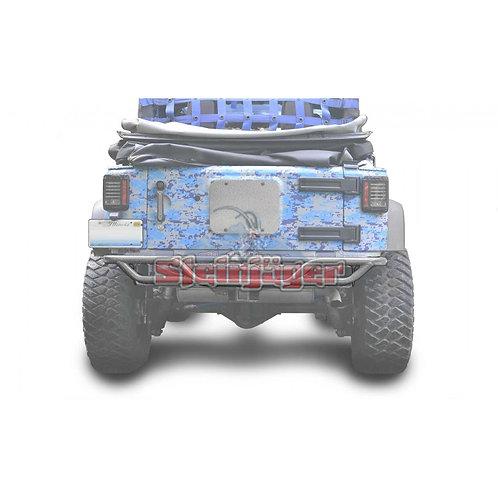 STE-J0048169. Hammered Grey Rear Tubular Bumper for Jeep Wrangler JK 0-