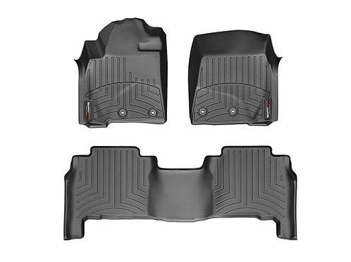 WEA-444231-441572. Black 1st & 2nd Row Liner 12-19 Toyota LandCruiser /Lexus LX