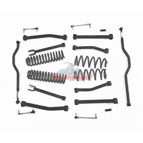 STE-J0044937. 4in Texturized Black Lift Kit for Jeep Wrangler JK and JKU