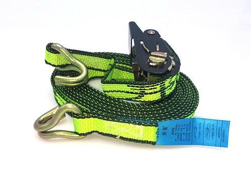 Ratchet Tie Down Strap with metal hooks EN12195-2