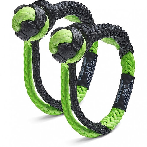 """BUBBA ROPE 176744 Mini Gator-Jaw Synthetic Soft Shackle 1/4"""" 11,000lb"""