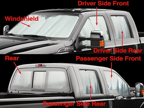 WEA-TS0013K2. Complete Full Sunshade for 11-19 Ford F-250/F-350/F-450/F-550