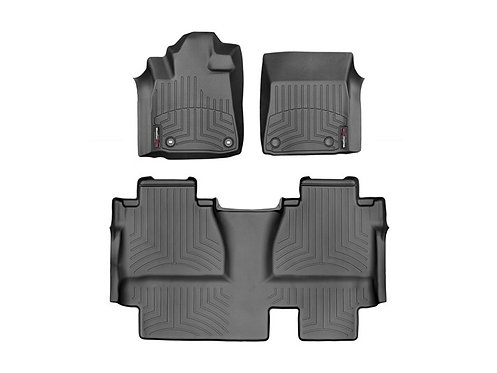 WEATHERTECH 444081-440939 Black 1st & 2nd Row Liner for 14-19 Toyota Sequoia