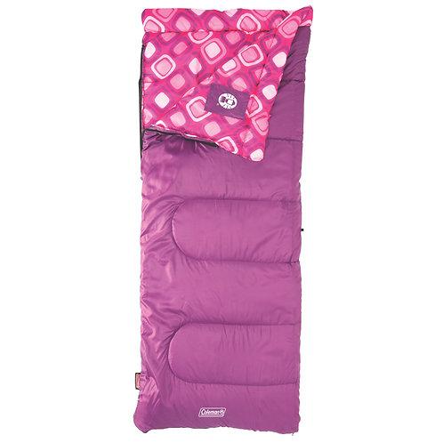 COLEMAN Pink Sleeping Bag Rectangular Young Girls 2000019645
