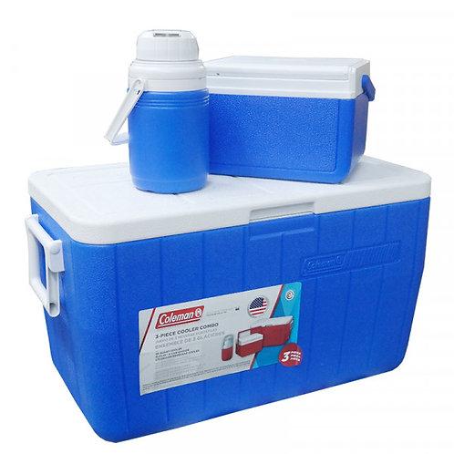 COLEMAN 3000000023 48-Quart Cooler + 5-Quart Cooler + 1/3-Gallon Jug