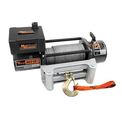 MILE MARKET 76-50260W Electric Winch SEC15 15000lb 12V