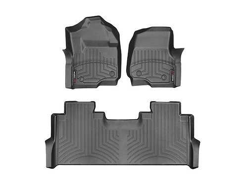 WEA-441012-1-2. Black 1st & 2nd Row Liner for 17-19 Ford F-250/F-350/F-450/F-550