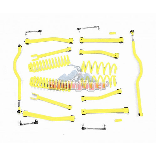 STE-J0046560. 4in Neon Yellow Lift Kit for Jeep Wrangler JK and JKU