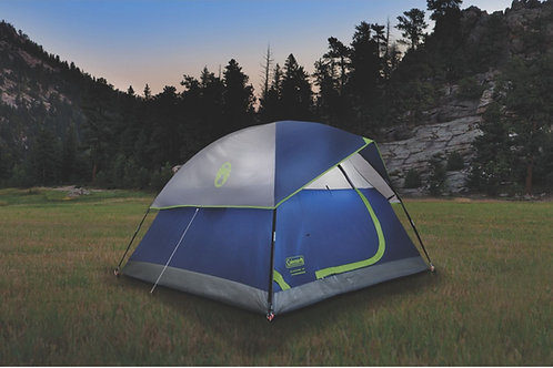 COLEMAN 3 Person Dome Tent Sundome 7x7ft Bag Included 2000024580