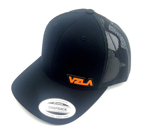 VENEZUELA Black/Orange Truck Cap Mesh