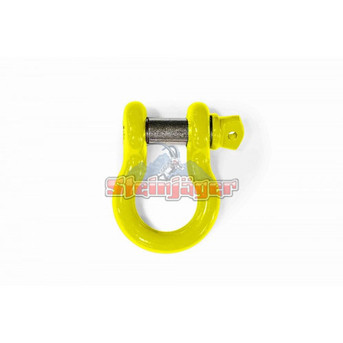 STEINJAGER Neon Yellow D-ring Shackle. J0046436