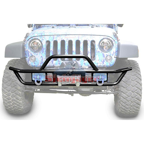 STE-J0048119. Black Front Tubular Bumper for Jeep Wrangler JK 07-18