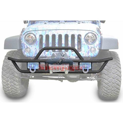 STE-J0048119. Texturized Black Front Tubular Bumper for Jeep Wrangler JK 07-18