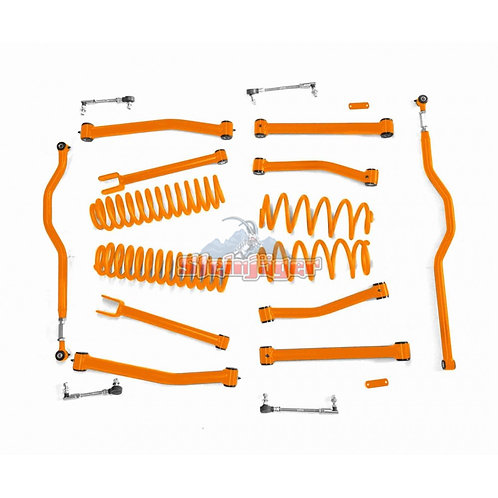 STE-J0044928. 4in Orange Lift Kit for Jeep Wrangler JK and JKU