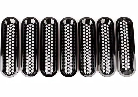 RUGGED RIDGE 11401.30 Black Billet Grille Insert for Jeep JK 07-15