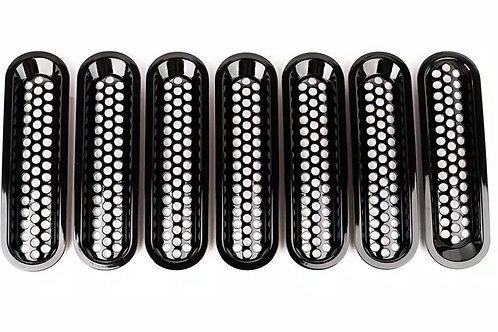 RUGGED RIDGE 11401.30 Black Billet Grille Insert for Jeep JK 07-15