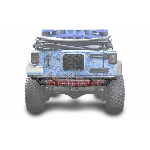 STE-J0048168. Texturized Black Rear Tubular Bumper for Jeep Wrangler JK 07-18