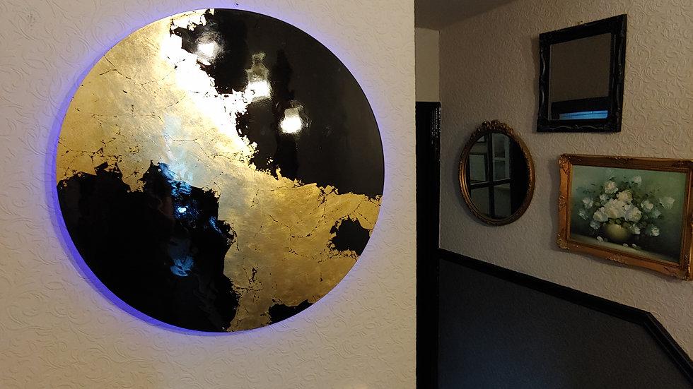Black & Gold LED backlit art work
