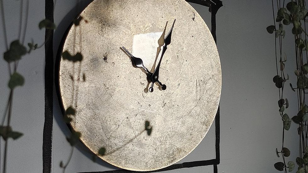 Gilded Clock - Antique Silver