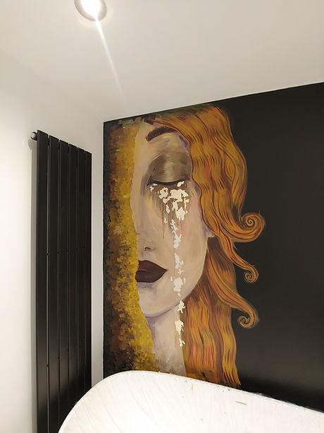 Golden tears mural
