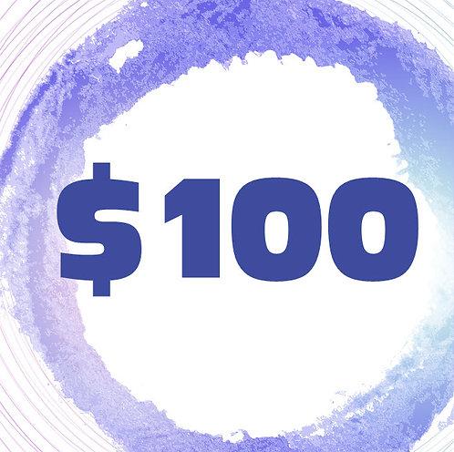 $100 Art Class Gift Certificate