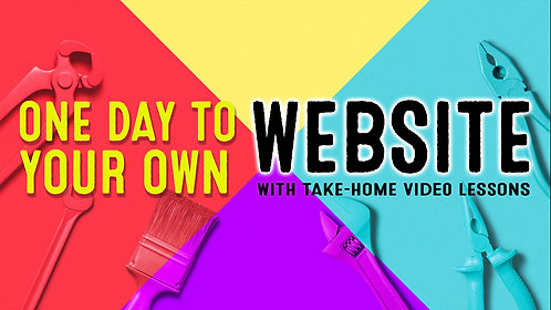 One Day to Your Own Wix Website: with Take Home Video Lessons