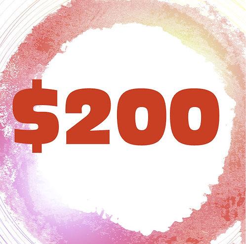 $200 Art Class Gift Certificate