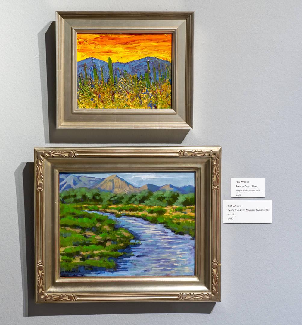 Sonoran Desert Color (top), Santa Cruz River: Monsoon Season (bottom)
