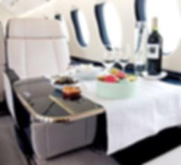 Private Jet Charter Interior