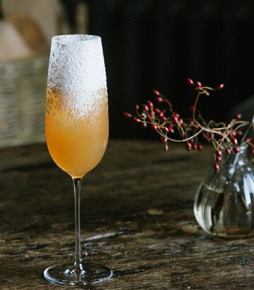 A Christmas cocktail at Heckfield place
