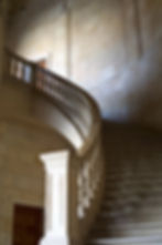 Luxury hotel stone staircase