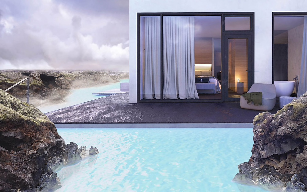 A luxury hotel on the The Blue Lagoon. Luxury Iceland Tour
