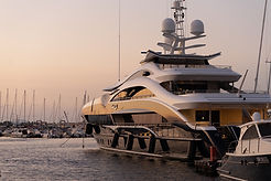 Private Yacht Chater at mooring