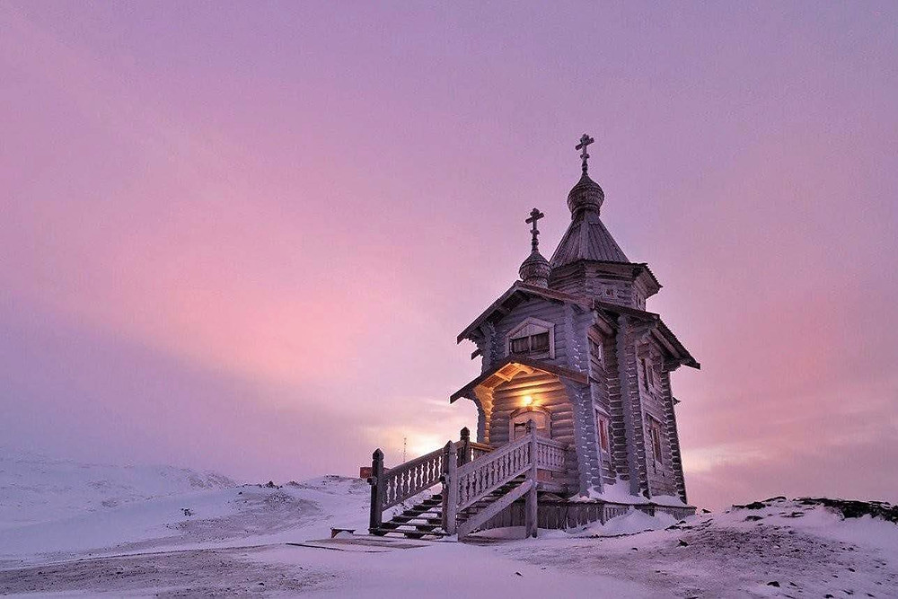 St Trinity church in Antarctica