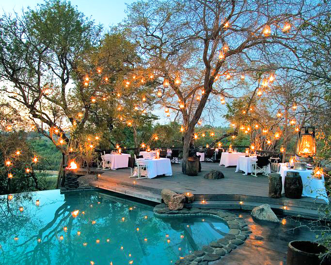 beautiful restaurant in a luxury hotel