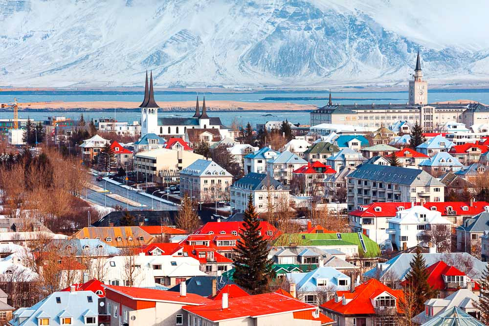 Rooftops in Reykjavik. Luxury tour of Iceland