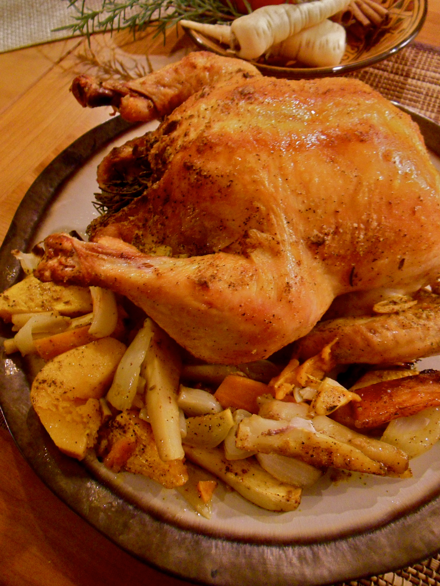 Roasted Roots and Rooster