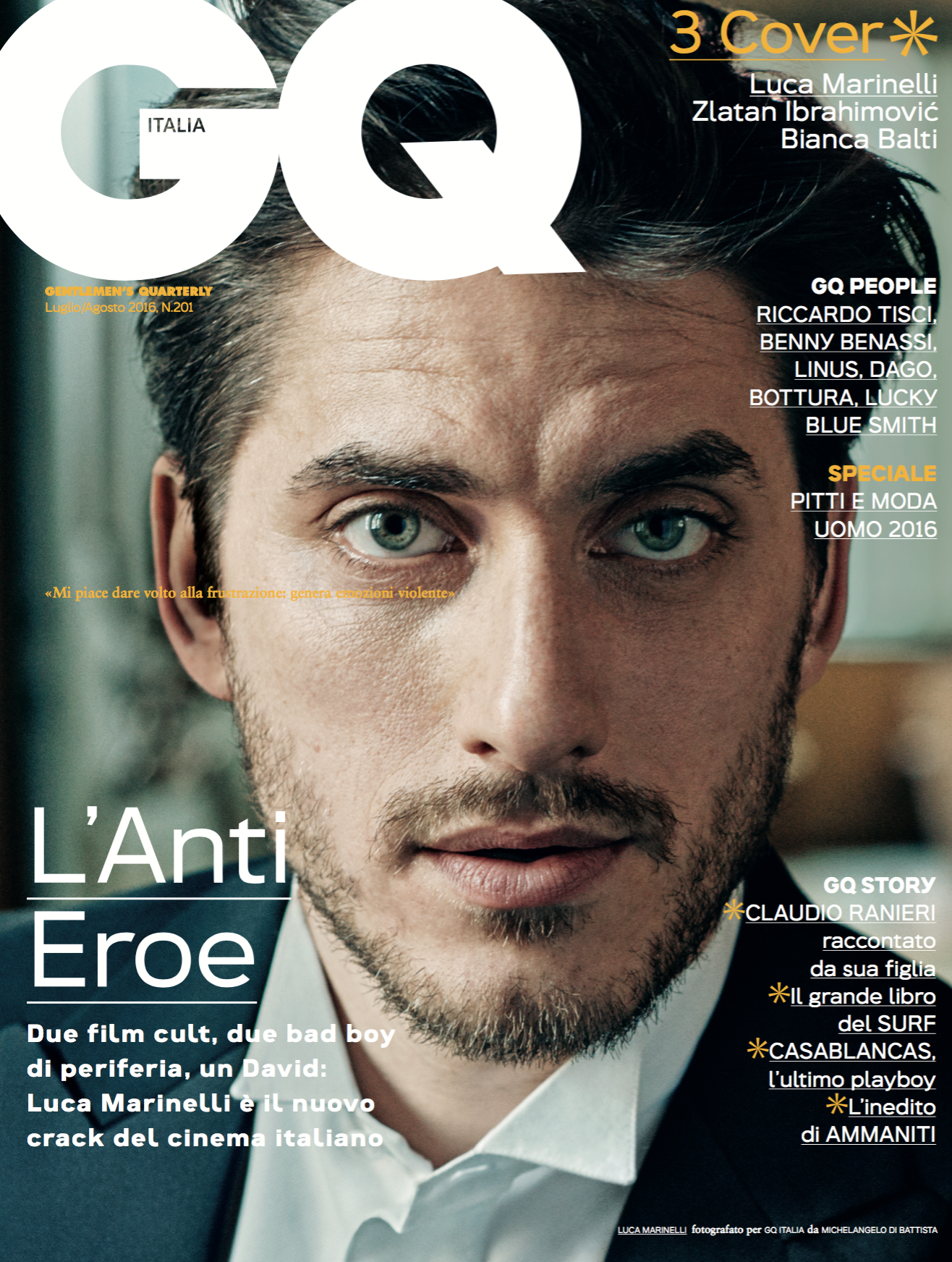 Luca Marinelli (GQ May 2016)