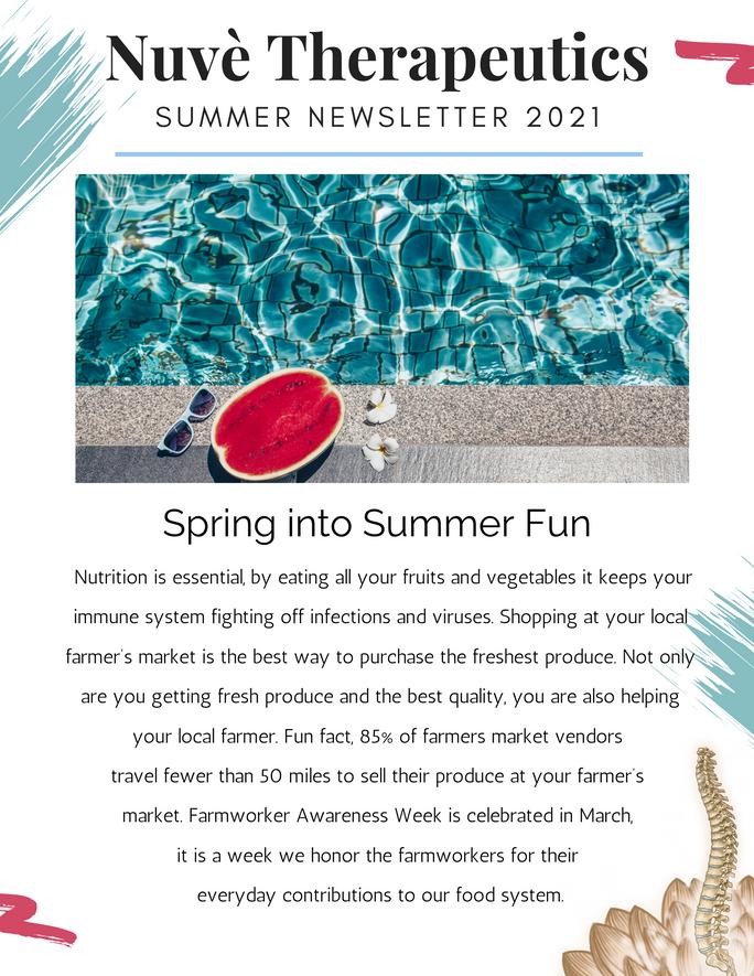 Nuvè Therapeutics Summer Newsletter