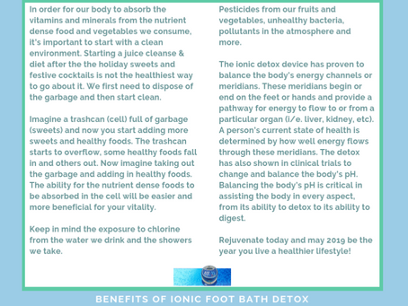 Start 2019 with a foot detox- REJUVENATE & BOOK  TODAY!