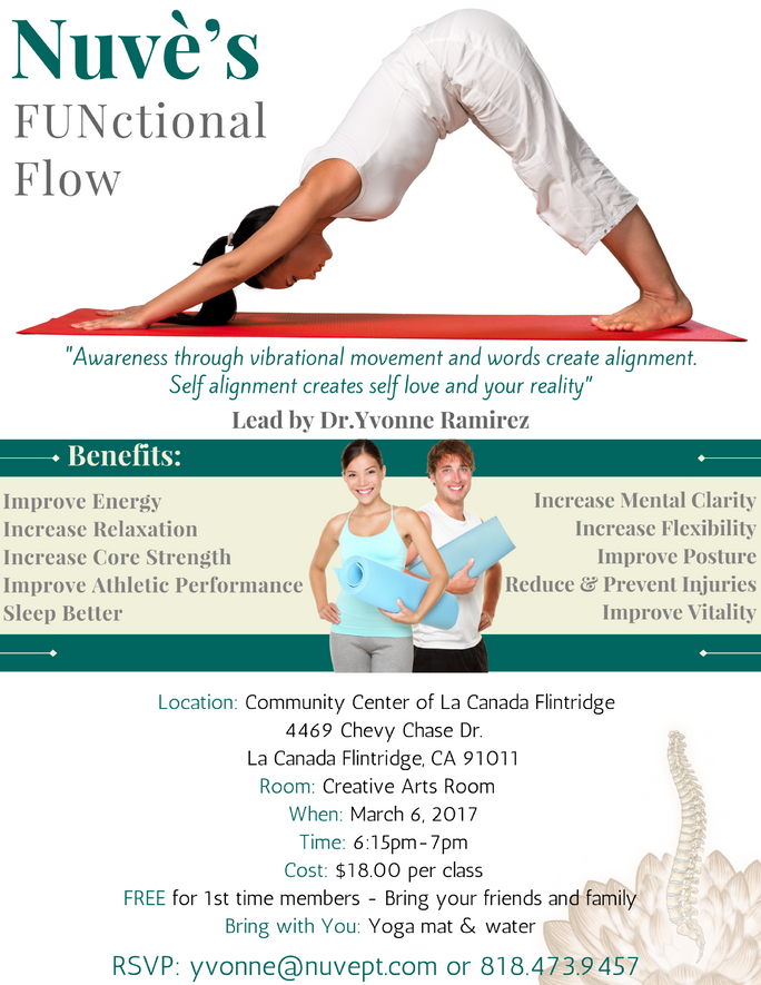 Nuvè FUNctional Flow every Monday at 6:15pm!