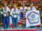CW Athlete Carissa Fu (2nd from right) earns a bronze medal at the 2014 World Poomsae Championships in Aguascalientes, Mexico