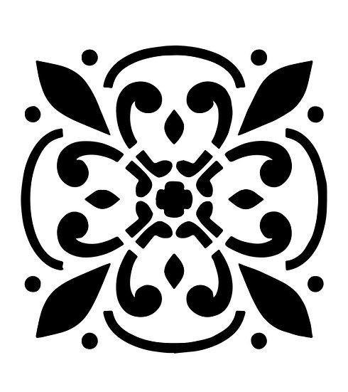 Sablon 3D Fleur Tile 13x13cm  (7001)