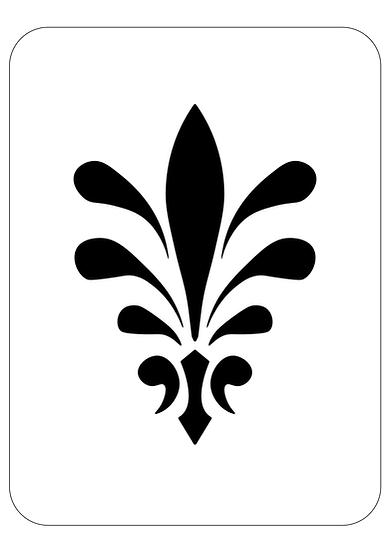Sablon decorativ Fleur A4  (1280)