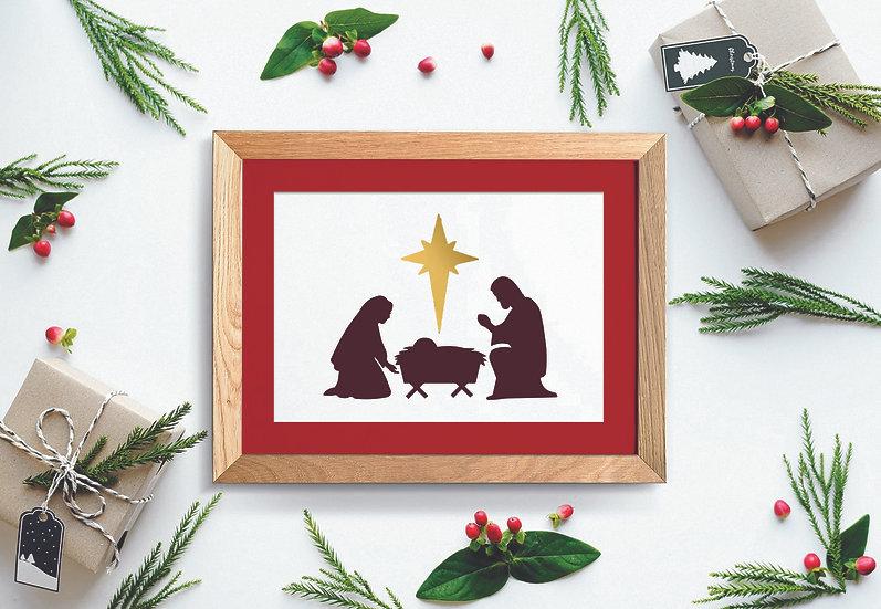 Sablon Nativity Craciun A4 (1130)