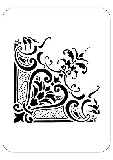 Sablon 3D Corner Baroque  30 x 30 cm  (6032)