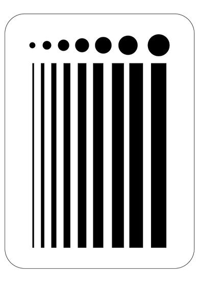 Sablon Lines Dots A4  (1293)